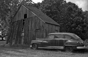 USA BW OLD CAR