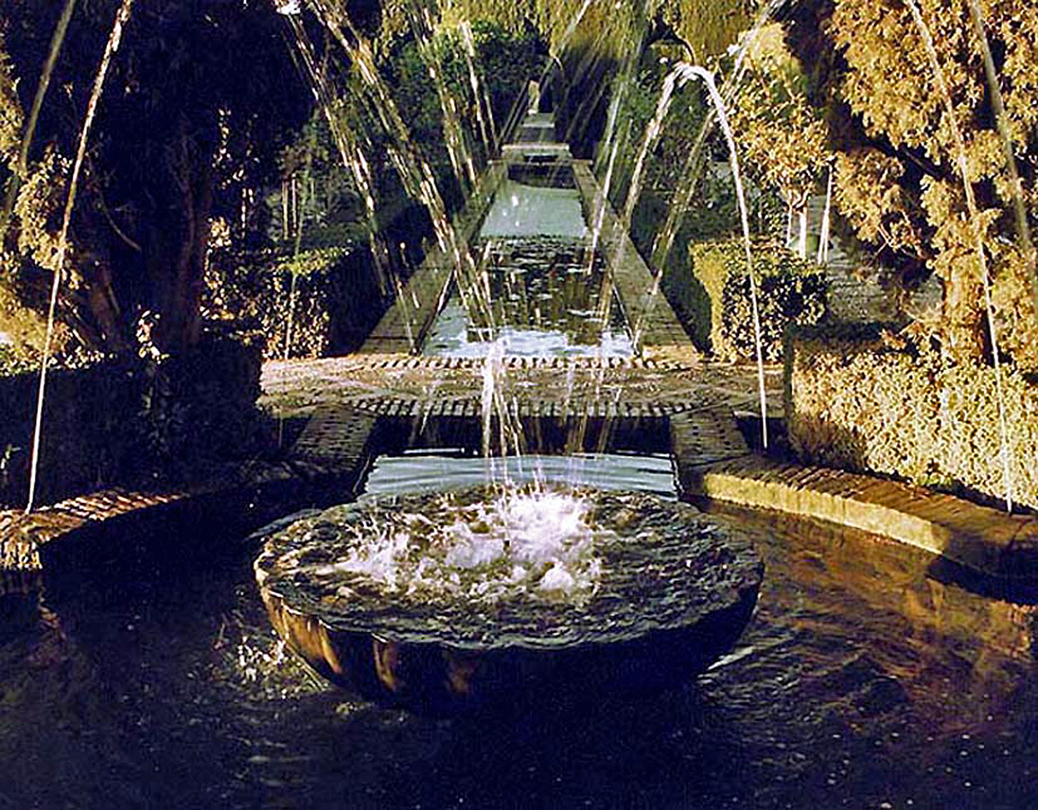 Generalife fountain