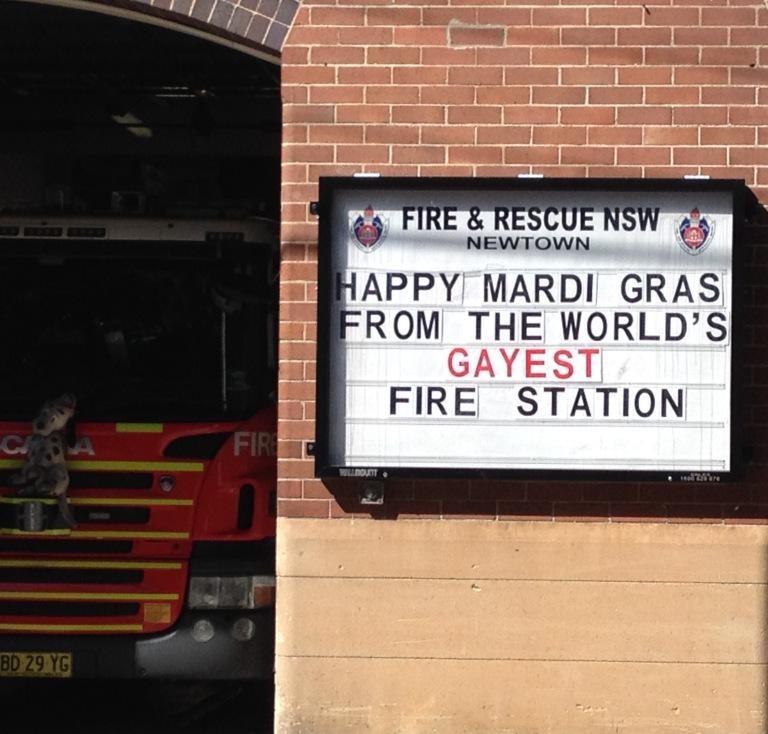 Newtown Fire stn mardi gras 2